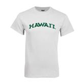 White T Shirt-Hawaii Arch