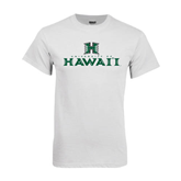 White T Shirt-Stacked University of Hawaii