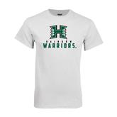White T Shirt-Stacked Rainbow Warriors