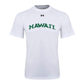 Under Armour White Tech Tee-Hawaii Arch