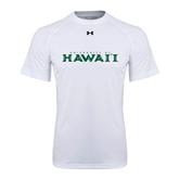 Under Armour White Tech Tee-University Of Hawaii
