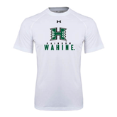 Under Armour White Tech Tee-Stacked Rainbow Wahine