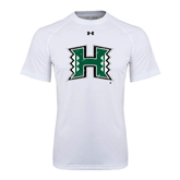 Under Armour White Tech Tee-Official Logo Distressed