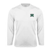 Performance White Longsleeve Shirt-Official Logo