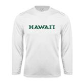 Performance White Longsleeve Shirt-Hawaii
