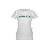 Youth Girls White Fashion Fit T Shirt-University Of Hawaii