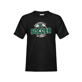 Youth Black T Shirt-Soccer Circle