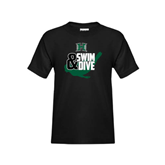 Youth Black T Shirt-Swim and Dive Swimmer