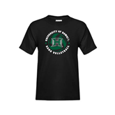 Youth Black T Shirt-Volleyball Ball w/ Stars