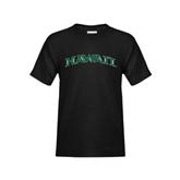 Youth Black T Shirt-Hawaii Arch