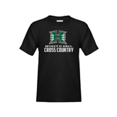 Youth Black T Shirt-Cross Country