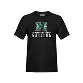 Youth Black T Shirt-Sailing