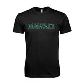 Next Level SoftStyle Black T Shirt-University Of Hawaii