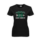 Ladies Black T Shirt-Cross Country XC