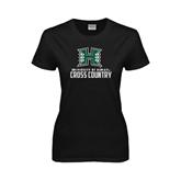 Ladies Black T Shirt-Cross Country