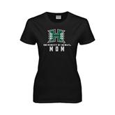 Ladies Black T Shirt-Mom