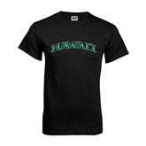 Black T Shirt-Hawaii Arch