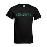 Black T Shirt-University Of Hawaii
