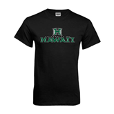 Black T Shirt-Stacked University of Hawaii