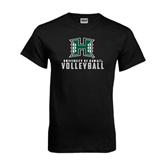 Black T Shirt-Volleyball