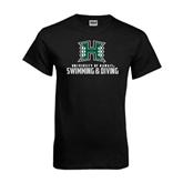 Black T Shirt-Swimming & Diving