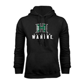 Black Fleece Hoodie-Stacked Rainbow Wahine