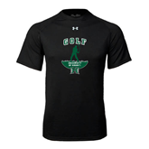 Under Armour Black Tech Tee-Golf Arched With Player