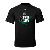 Under Armour Black Tech Tee-Swim and Dive Swimmer