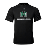Under Armour Black Tech Tee-Swimming & Diving