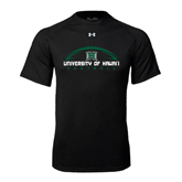 Under Armour Black Tech Tee-Football Arched
