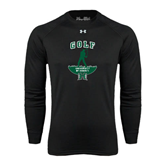 Under Armour Black Long Sleeve Tech Tee-Golf Arched With Player