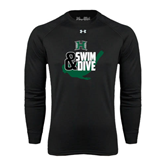 Under Armour Black Long Sleeve Tech Tee-Swim and Dive Swimmer