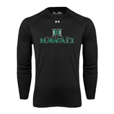 Under Armour Black Long Sleeve Tech Tee-Stacked University of Hawaii