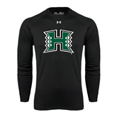 Under Armour Black Long Sleeve Tech Tee-Official Logo Distressed