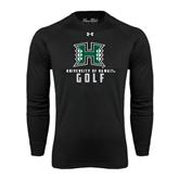 Under Armour Black Long Sleeve Tech Tee-Golf