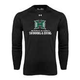 Under Armour Black Long Sleeve Tech Tee-Swimming & Diving