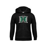 Youth Black Fleece Hoodie-Official Logo