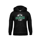 Youth Black Fleece Hoodie-Soccer Circle
