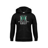 Youth Black Fleece Hoodie-Golf