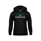 Youth Black Fleece Hoodie-Football Arched