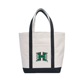 Contender White/Black Canvas Tote-Official Logo
