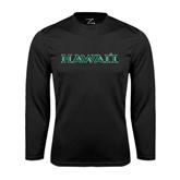 Performance Black Longsleeve Shirt-Hawaii