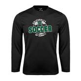 Performance Black Longsleeve Shirt-Soccer Circle