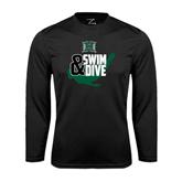 Performance Black Longsleeve Shirt-Swim and Dive Swimmer