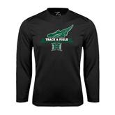 Performance Black Longsleeve Shirt-Track & Field Side Shoe