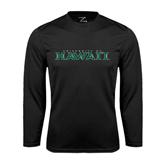 Performance Black Longsleeve Shirt-University Of Hawaii
