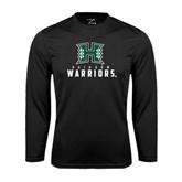 Performance Black Longsleeve Shirt-Stacked Rainbow Warriors
