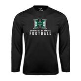 Performance Black Longsleeve Shirt-Football