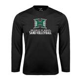 Performance Black Longsleeve Shirt-Sand Volleyball