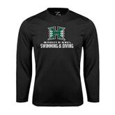 Performance Black Longsleeve Shirt-Swimming & Diving